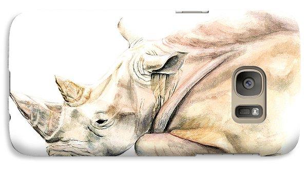 Small Colour Rhino Galaxy S7 Case by Elizabeth Lock