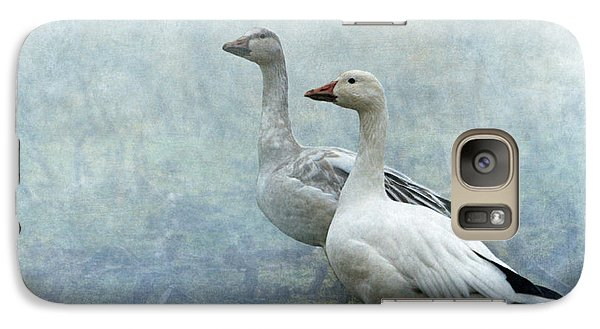 Snow Geese Galaxy S7 Case by Angie Vogel