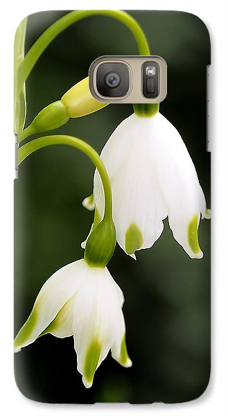 Snowbells In Spring Galaxy Case by Rona Black