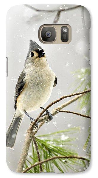 Snowy Songbird Galaxy S7 Case by Christina Rollo