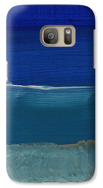 Soft Crashing Waves- Abstract Landscape Galaxy Case by Linda Woods