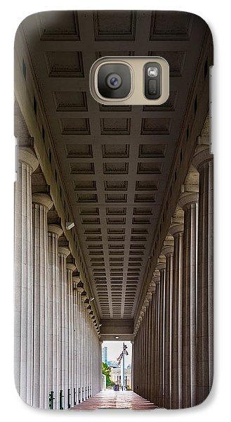 Soldier Field Colonnade Galaxy Case by Steve Gadomski