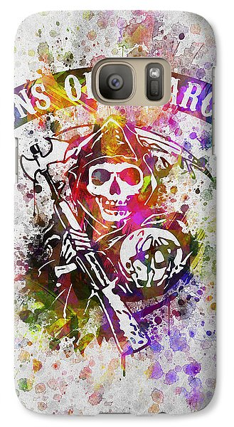 Sons Of Anarchy In Color Galaxy Case by Aged Pixel