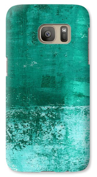 Soothing Sea - Abstract Painting Galaxy S7 Case by Linda Woods