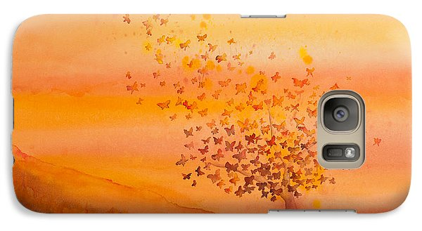 Soul Freedom Watercolor Painting Galaxy Case by Michelle Wiarda