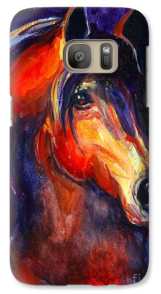 Soulful Horse Painting Galaxy S7 Case by Svetlana Novikova