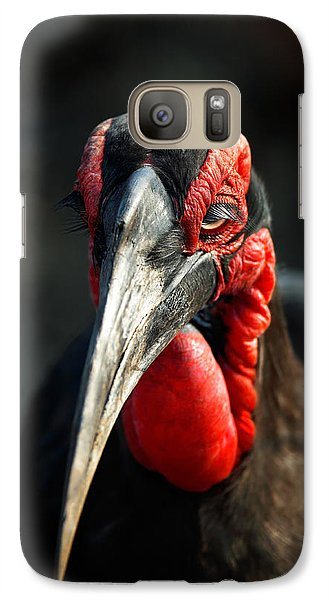 Southern Ground Hornbill Portrait Front View Galaxy S7 Case by Johan Swanepoel