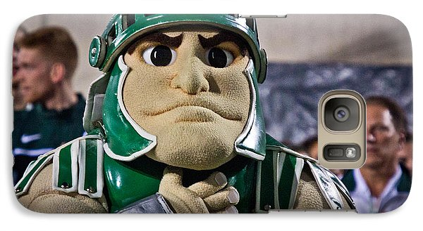 Sparty And Izzo National Anthem  Galaxy Case by John McGraw