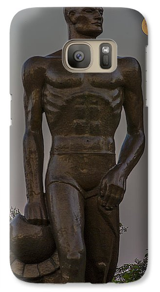 Sparty And Moon Galaxy Case by John McGraw