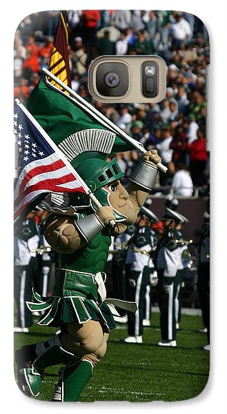 Sparty At Football Game Galaxy Case by John McGraw