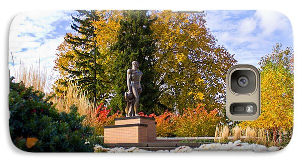 Sparty In Autumn  Galaxy Case by John McGraw