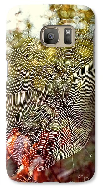 Spider Web Galaxy S7 Case by Edward Fielding