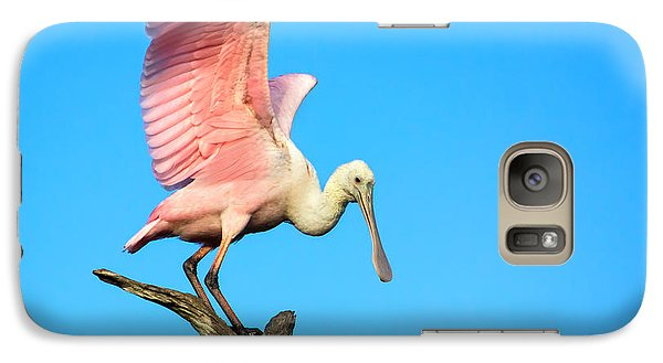 Spoonbill Flight Galaxy S7 Case by Mark Andrew Thomas