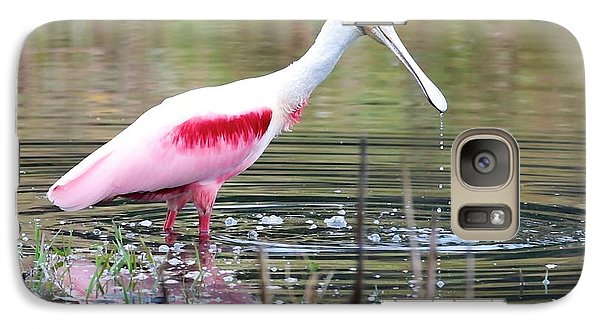 Spoonbill In The Pond Galaxy S7 Case by Carol Groenen