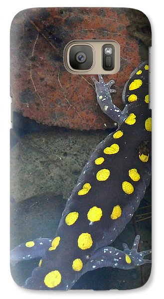 Spotted Salamander Galaxy Case by Christina Rollo