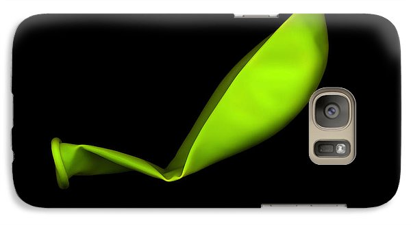 Square Lime Green Balloon Galaxy Case by Julian Cook
