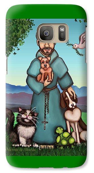 St. Francis Libertys Blessing Galaxy S7 Case by Victoria De Almeida