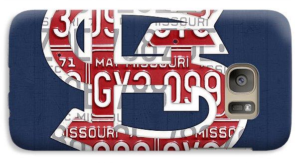 St. Louis Cardinals Baseball Vintage Logo License Plate Art Galaxy Case by Design Turnpike