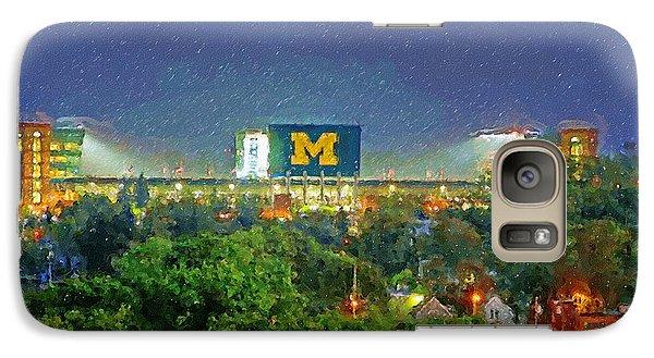 Stadium At Night Galaxy Case by John Farr