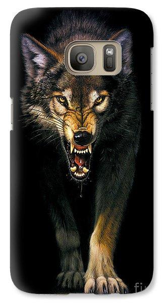 Stalking Wolf Galaxy S7 Case by MGL Studio - Chris Hiett