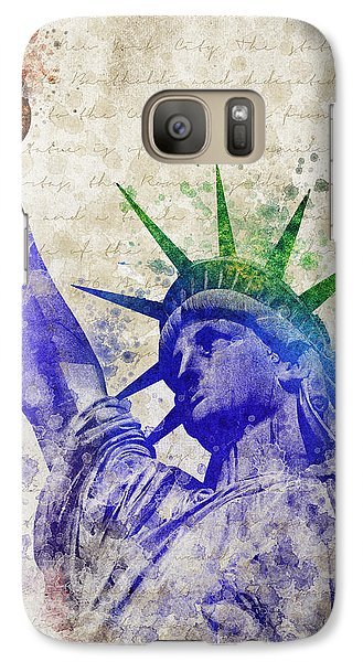 Statue Of Liberty Galaxy Case by Aged Pixel