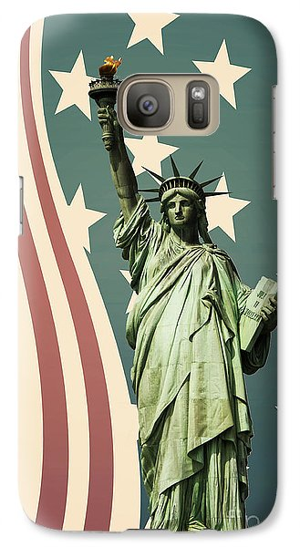 Statue Of Liberty Galaxy S7 Case by Juli Scalzi