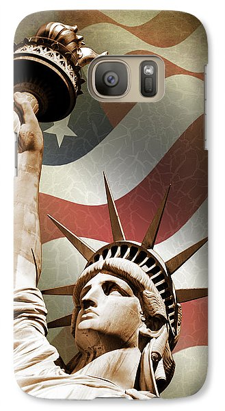 Statue Of Liberty Galaxy S7 Case by Mark Rogan