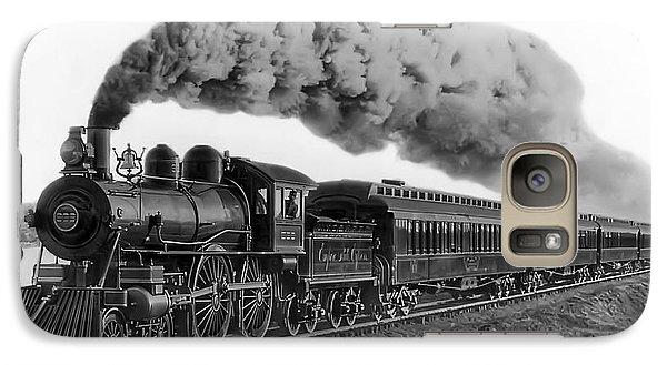 Steam Locomotive No. 999 - C. 1893 Galaxy S7 Case by Daniel Hagerman