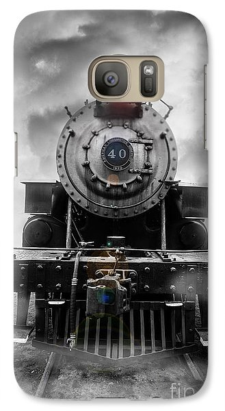Steam Train Dream Galaxy Case by Edward Fielding