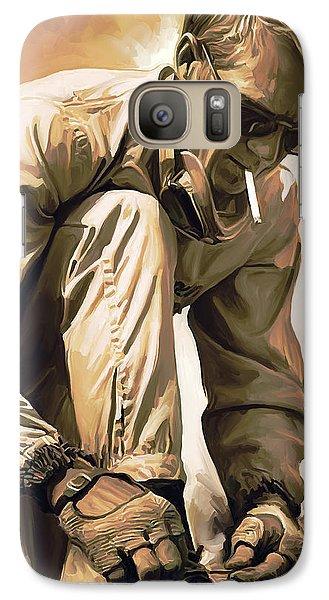 Steve Mcqueen Artwork Galaxy Case by Sheraz A