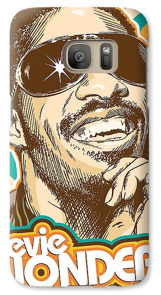 Stevie Wonder Pop Art Galaxy S7 Case by Jim Zahniser