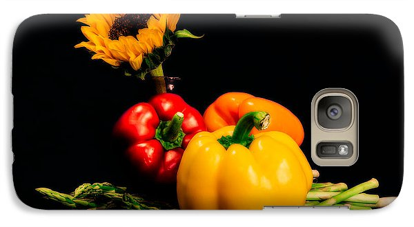 Still Life Peppers Asparagus Sunflower Galaxy S7 Case by Jon Woodhams