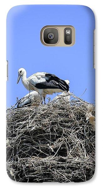 Storks Nesting Galaxy S7 Case by Photostock-israel