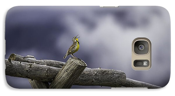 Stormy Weather And A Sweet Song Galaxy Case by Thomas Young