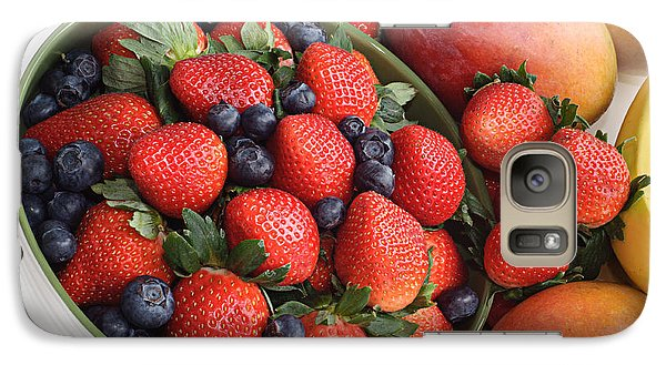 Strawberries Blueberries Mangoes And A Banana - Fruit Tray Galaxy S7 Case by Andee Design