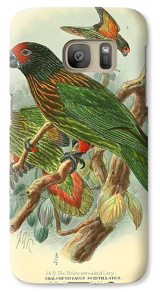 Streaked Lory Galaxy S7 Case by J G Keulemans