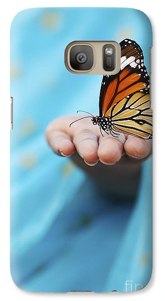 Striped Tiger Butterfly Galaxy S7 Case by Tim Gainey