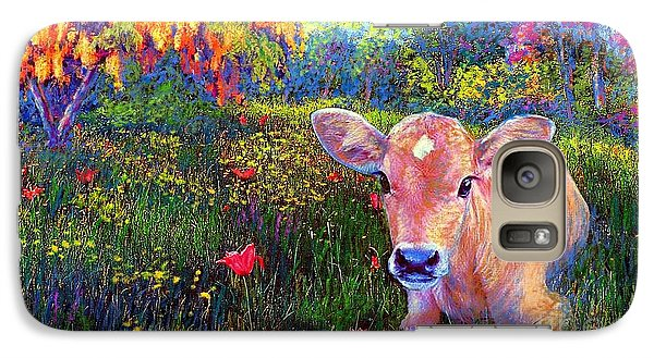 Such A Contented Cow Galaxy Case by Jane Small