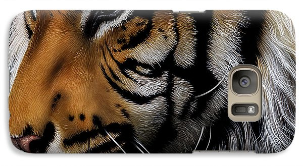 Sumatran Tiger Profile Galaxy S7 Case by Jurek Zamoyski