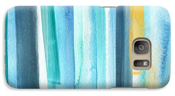 Summer Surf- Abstract Painting Galaxy Case by Linda Woods