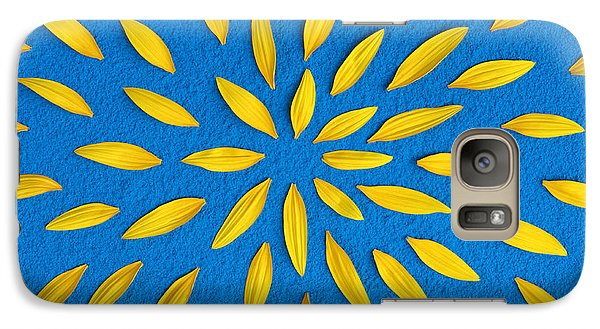 Sunflower Petals Pattern Galaxy S7 Case by Tim Gainey