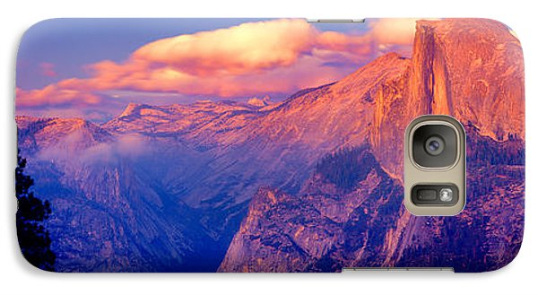 Sunlight Falling On A Mountain, Half Galaxy Case by Panoramic Images