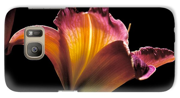 Sunlit Lily Galaxy Case by Rona Black