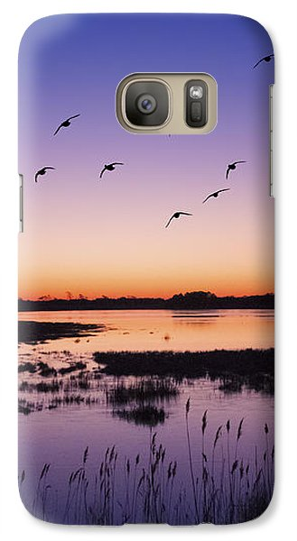 Sunrise At Assateague - Wetlands - Silhouette  Galaxy S7 Case by Shara Lee