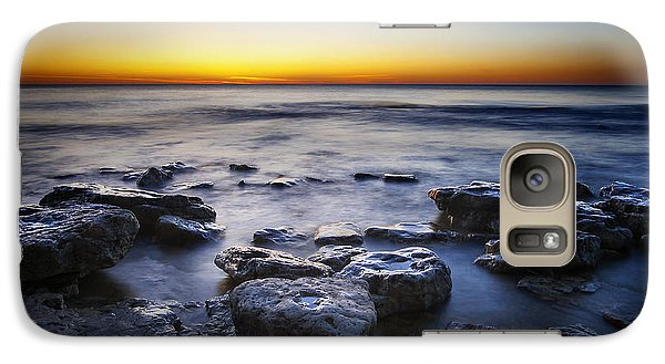 Sunrise At Cave Point Galaxy Case by Scott Norris