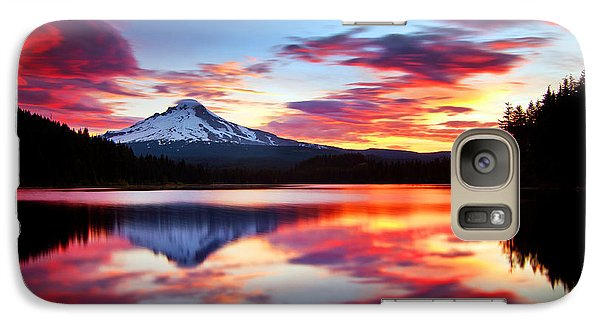 Sunrise On The Lake Galaxy Case by Darren  White