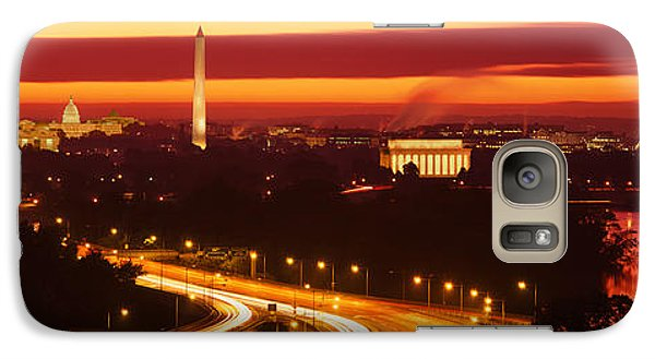 Sunset, Aerial, Washington Dc, District Galaxy Case by Panoramic Images