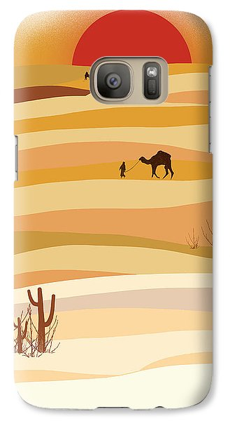 Sunset In The Desert Galaxy S7 Case by Neelanjana  Bandyopadhyay