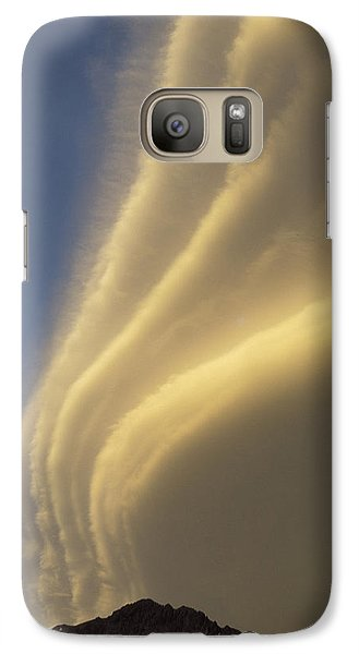 Sunset On Storm Clouds Near Mt Cook Galaxy S7 Case by Ian Whitehouse