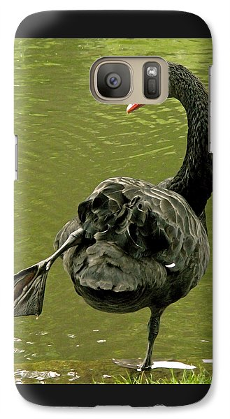 Swan Yoga Galaxy Case by Rona Black